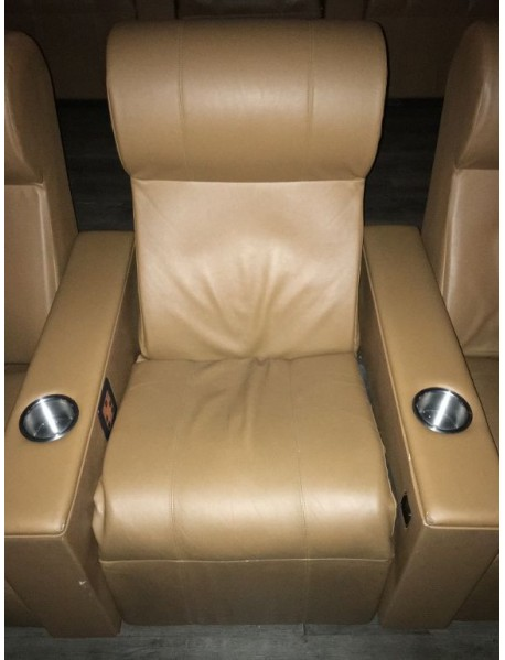 Tan AMC first generation power recliners - tan, used but still in good shape