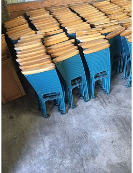 20 Antique Movie Theater Auditorium chair - auditorium chair drilled for church chairs